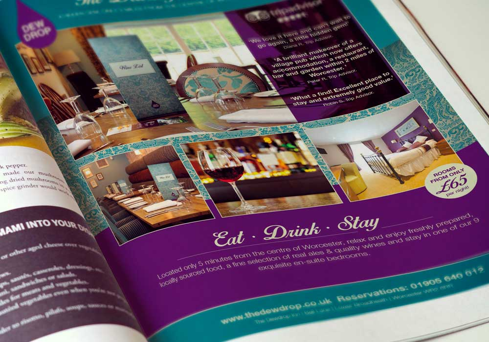 The Dewdrop Inn magazine advertisement