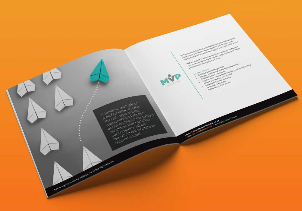 The logistics partnership brochure mockup