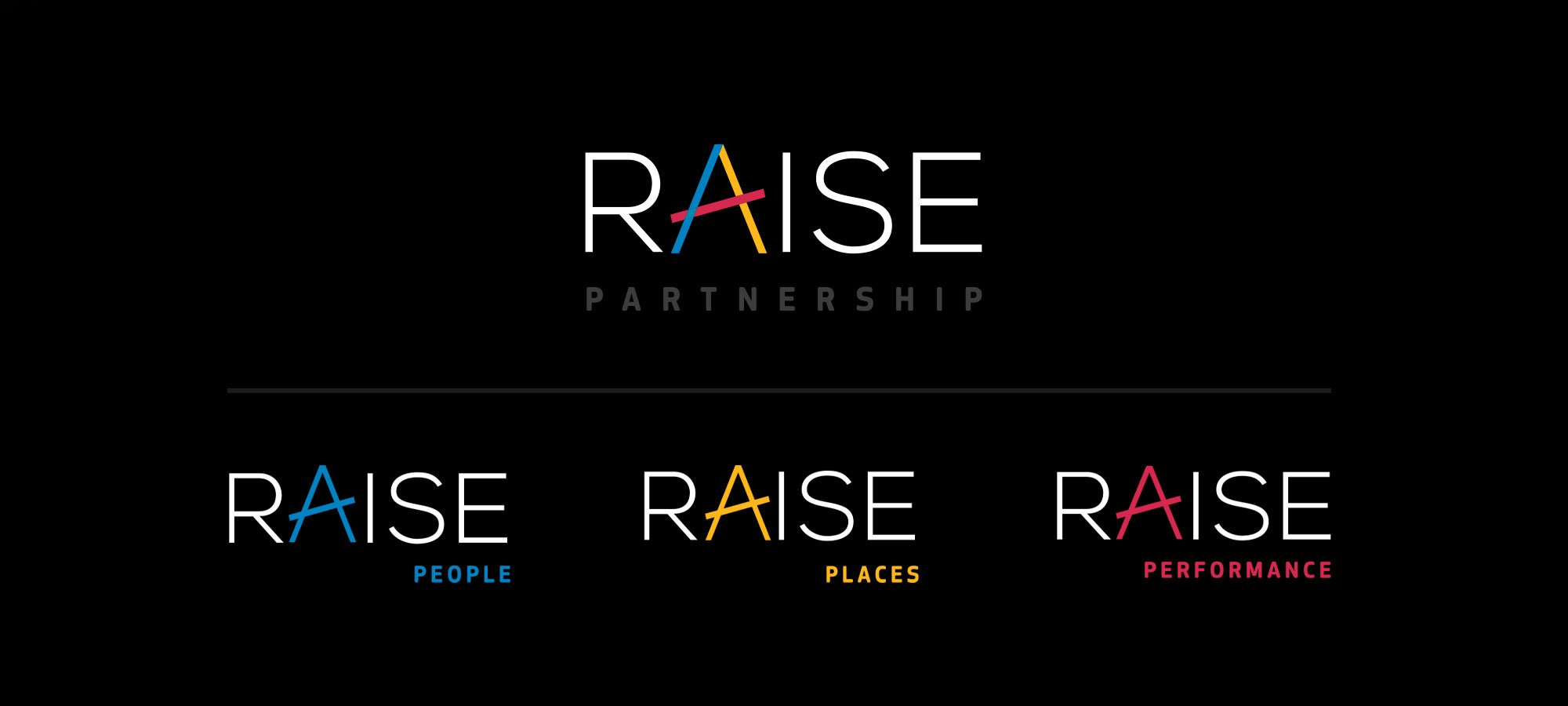 Raise Partnership full set of logos