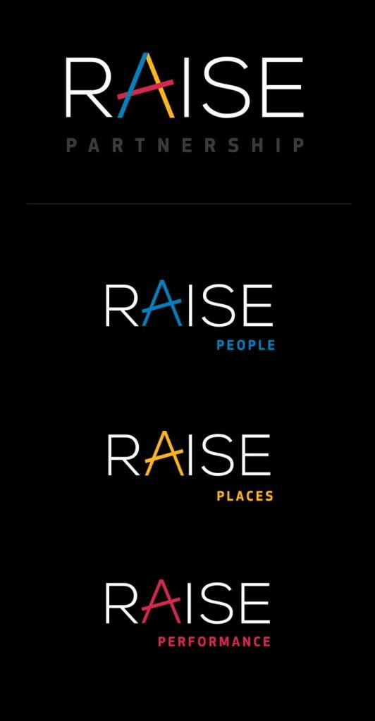 Raise Partnership set of logos